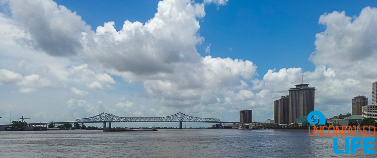 Mississippi River New Orleans LA bridge