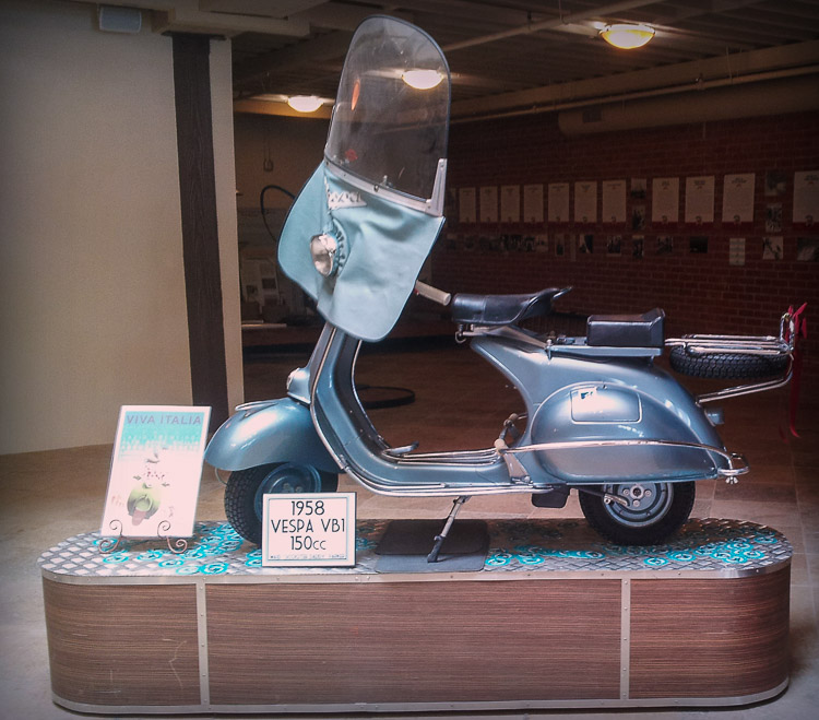 1958 Vespa Vintage Scooter Little Italy San Diego CA