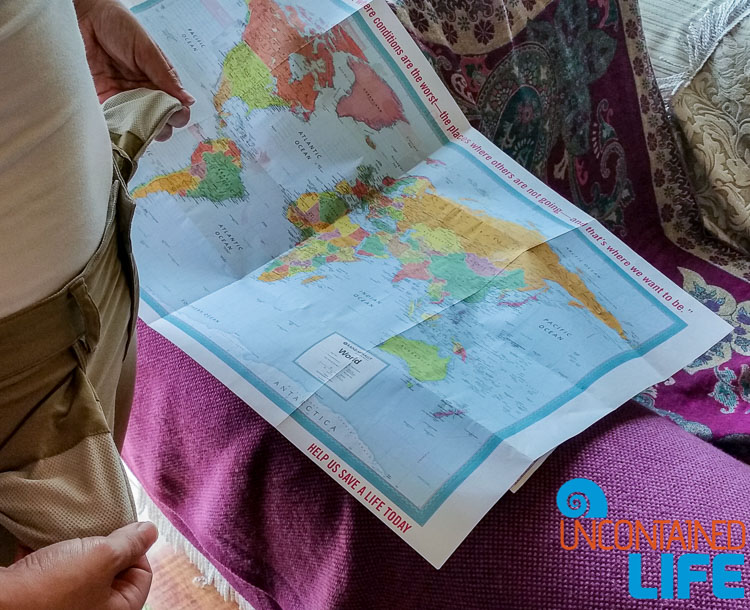 Travel Map Empty Pockets
