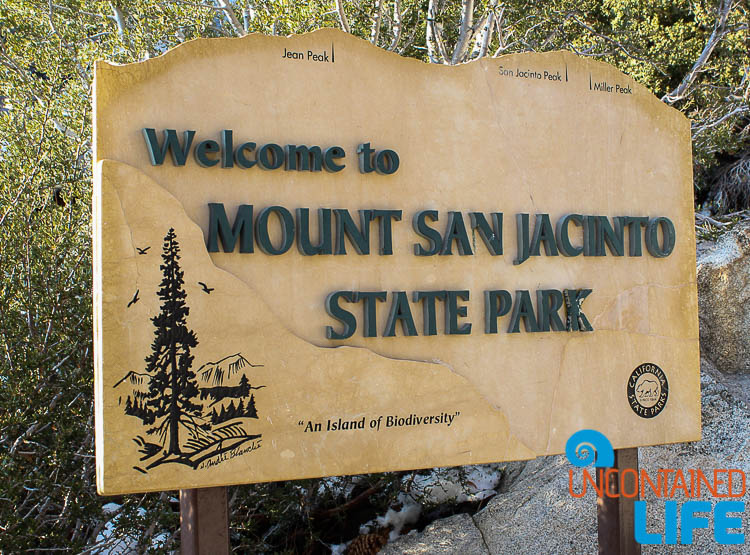 Mount San Jacinto State Park Sign