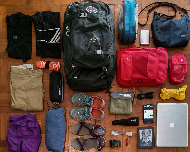 World Travel Women's Packing List