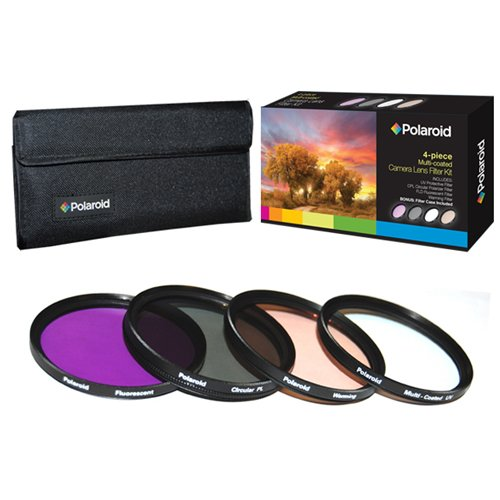 Polaroid Optics 58mm 4 Piece Filter Set (UV, CPL, FLD, WARMING)