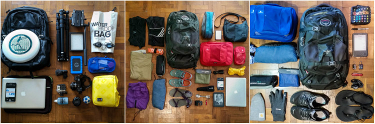 Uncontained Life Travel Bags Packing