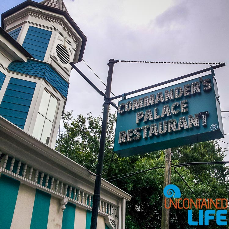 Commanders Palace Restaurant, New Orleans, Save money on food while traveling, Uncontained Life