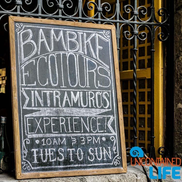 Bam Bike Ecotours Intramuros Experience Manila Philippines