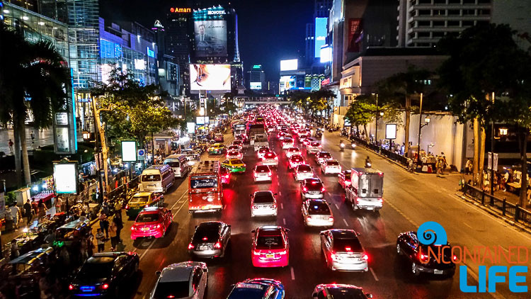 Bangkok Street at Night