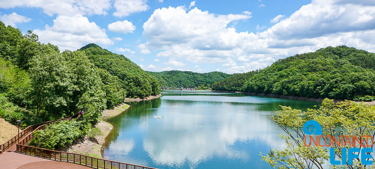 Reservoir, Jincheon, Boardwalk, Off the Beaten Path in South Korea, Uncontained Life