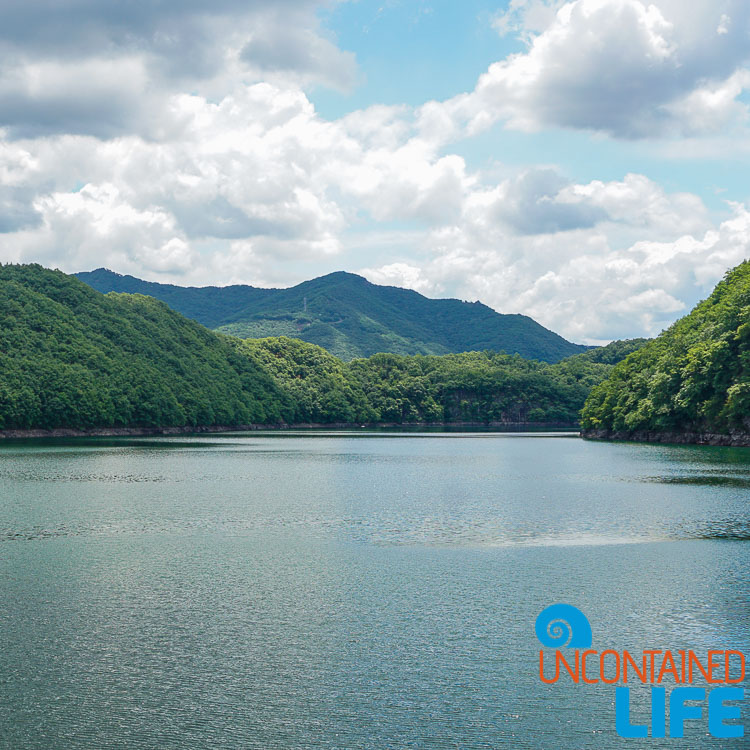 Reservoir, Lake, HIlls, Jincheon, Off the Beaten Path in South Korea, Uncontained Life