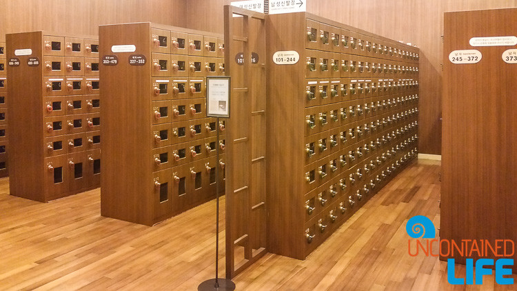 Shoe Locker Korean Spa