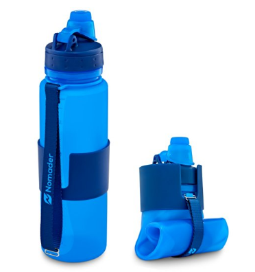 Nomader Collapsible Water Bottle - Leak Proof Twist Cap - BPA Free, 22 Ounce1
