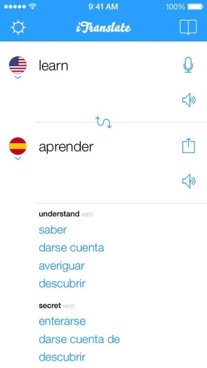 iTranslate screenshot