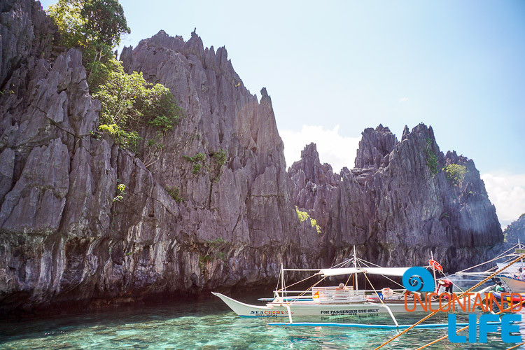 Cliffs and Boat El Nido
