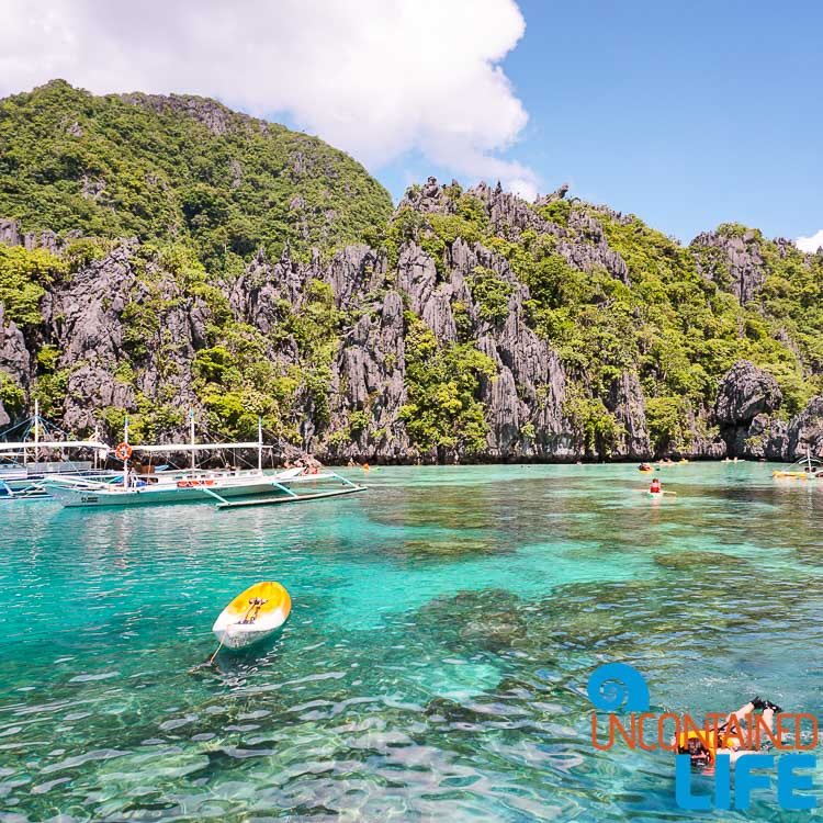 Kayak, Island Hopping, Cliffs, El Nido, Palawan, Philippines, Uncontained Life