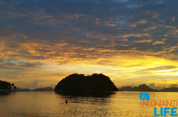 Sunset, Silhouette, Islands, El Nido, Palawan, Philippines, Uncontained Life