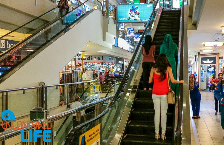 Jakarta Mall, Uncontained Life, escalator