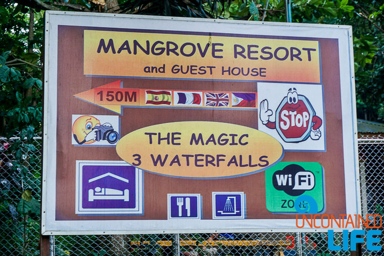 Mangrove Resort Sign, Langogan, Philippines, Uncontained Life