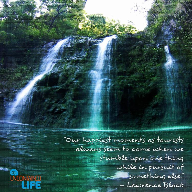 Lawrence Block Quoto, Maui, Hawaii, Waterfall