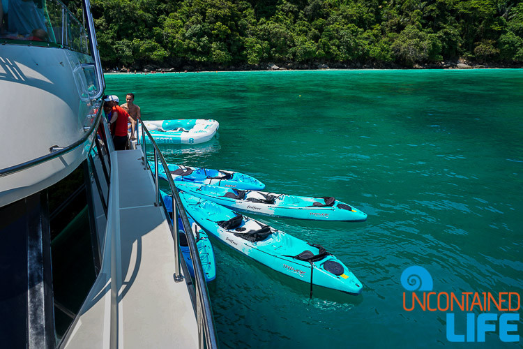 Kayaks, Blue World Safari, Phi Phi Islands, Phuket, Thailand, Uncontained Life