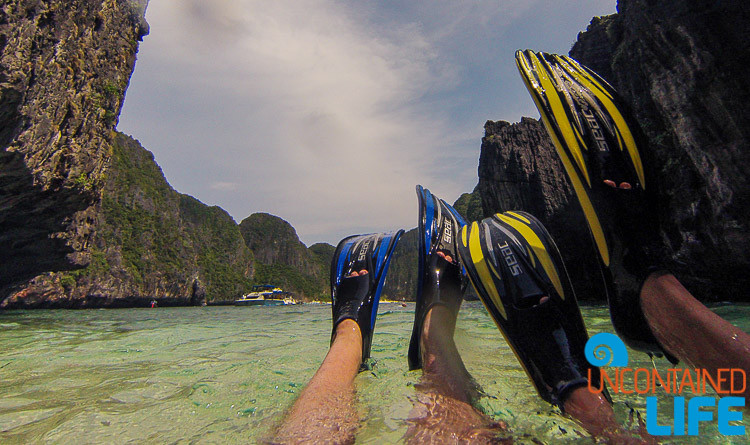 Snorkeling, Secret Beach, Blue World Safari, Phi Phi Islands, Phuket, Thailand, Uncontained Life