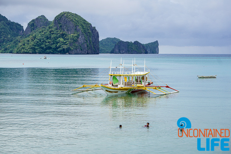 Islands, Outrigger Boat, Swimming, El Nido, Palawan, Philippines, Uncontained Life
