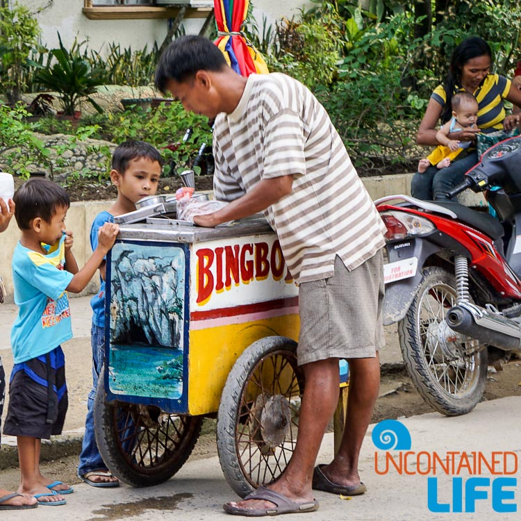 Ice Cream, Street Vendor, El Nido, Palawan, Philippines, Uncontained Life