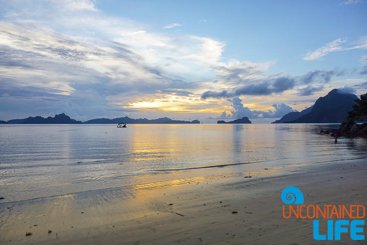Sunset, El Nido, Palawan, Philippines, Uncontained Life