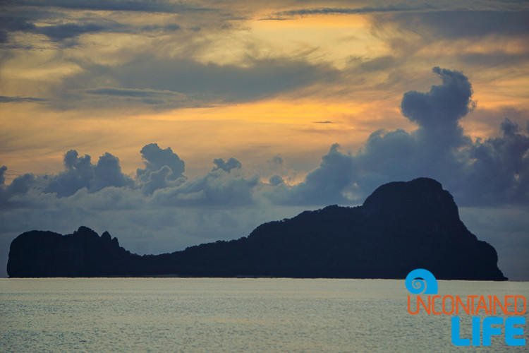 Island, Sunset, Clouds, and Silhouette, El Nido, Palawan, Philippines, Uncontained Life