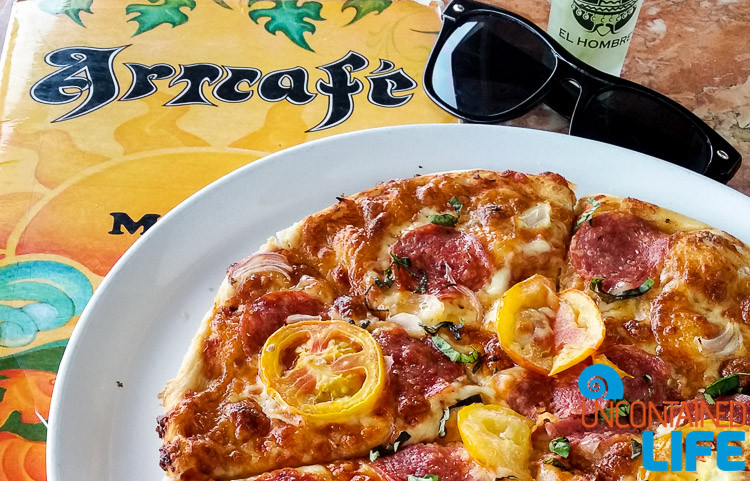 Salami Pizza, Art Cafe, El Nido, Palawan, Philippines, Uncontained Life