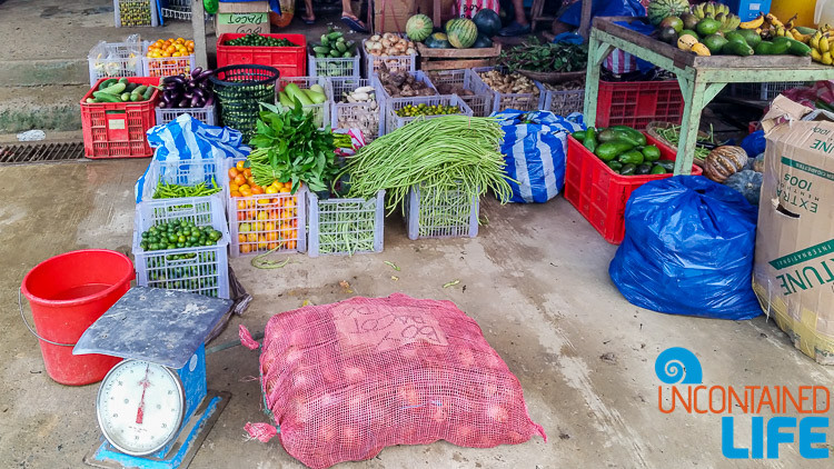 Fruits, Vegetables, Market, El Nido, Palawan, Philippines, Uncontained Life