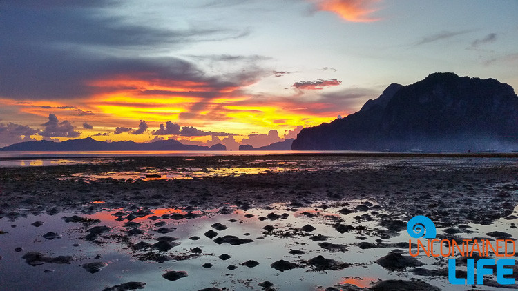 Sunset, Islands, Mud Flats, El Nido, Palawan, Philippines, Uncontained Life