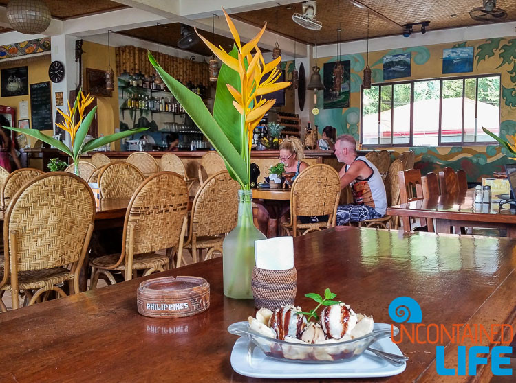 Banana Split, Art Cafe, El Nido, Palawan, Philippines, Uncontained Life