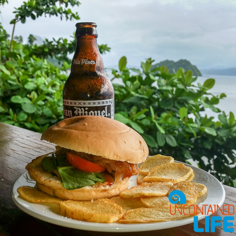 Beer, Burger, El Nido, Republica Sunset Bar, Palawan, Philippines, Uncontained Life