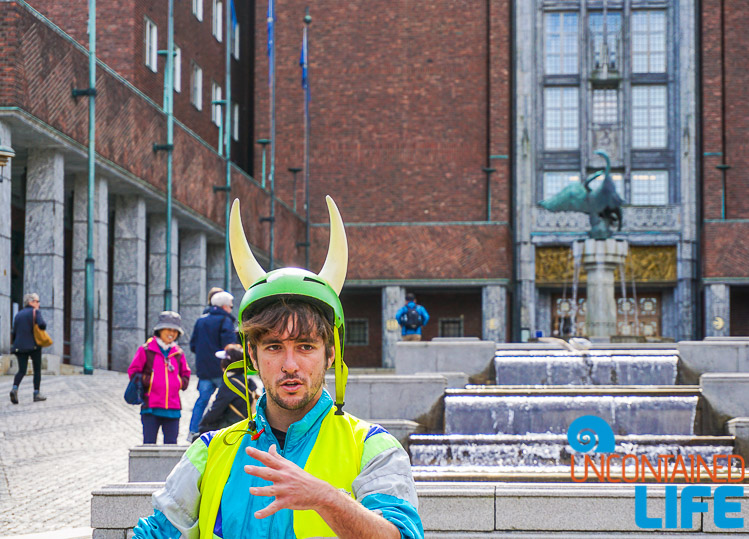 Viking Biking, City Hall, Oslo, Norway, Uncontained Life