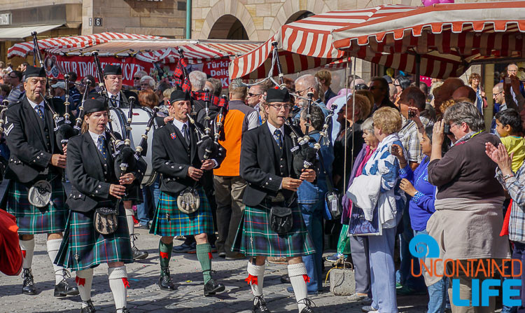 Bagpipes, Parade, Altstadfest, Nuremberg, Germany, Uncontained Life