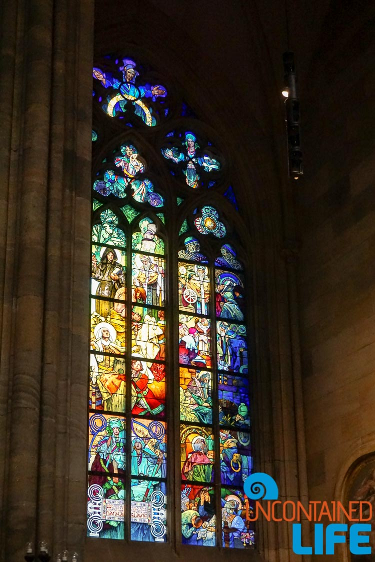 St. Vetus Cathedral, Painted Glass, Stained Glass, Prague, Czech Republic, Uncontained Life