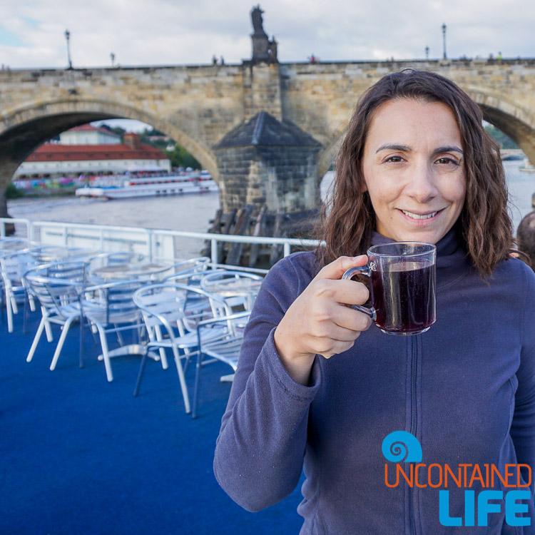 Vltava River Cruise, Wine, Prague, Czech Republic, Uncontained Life