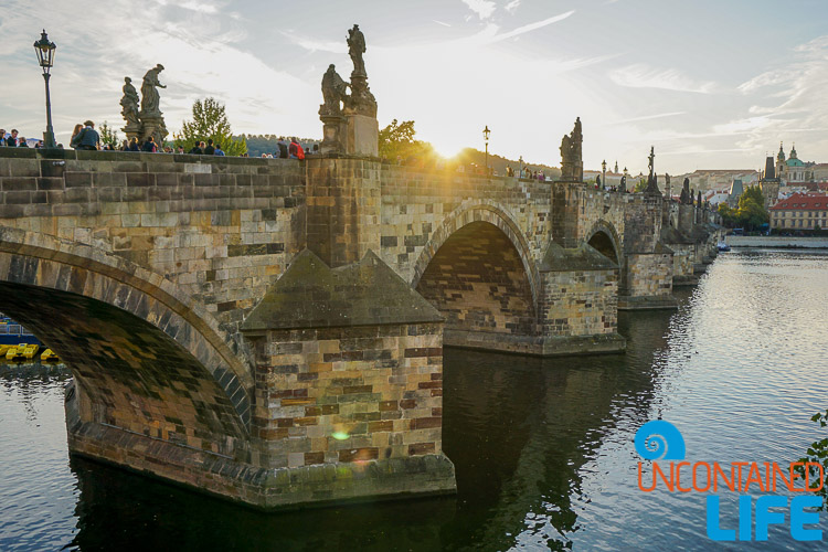 Charles Bridge, Sunset, Prague, Czech Republic, Uncontained Life