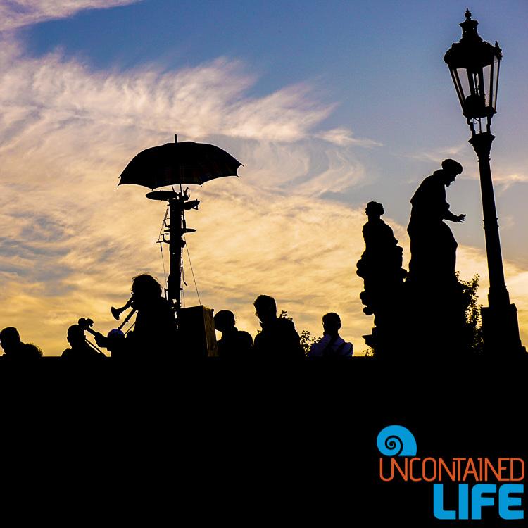 Silhouette, Sunset, Prague, Czech Republic, Uncontained Life