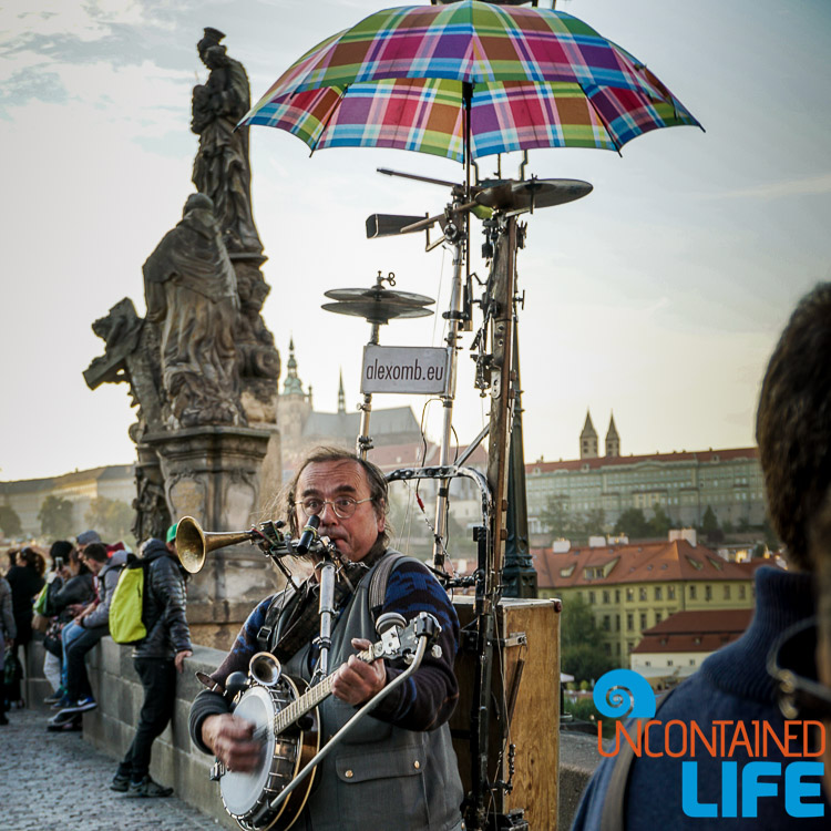Street Performer, Charles Bridge, Prague, Czech Republic, Uncontained Life