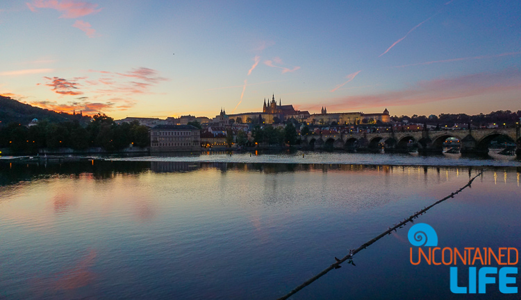 Prague Castle, Charles Bridge, Sunset, Prague, Czech Republic, Uncontained Life