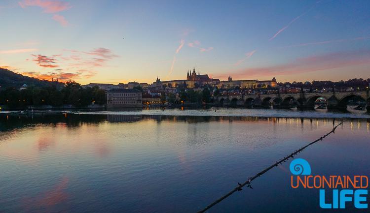 Prague Castle, Charles Bridge, Sunset, Prague, Czech Republic, Uncontained Life