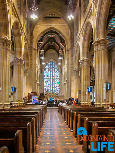 St. Mary's Cathedral, Inexpensive Activities in Sydney, Australia, Uncontained Life