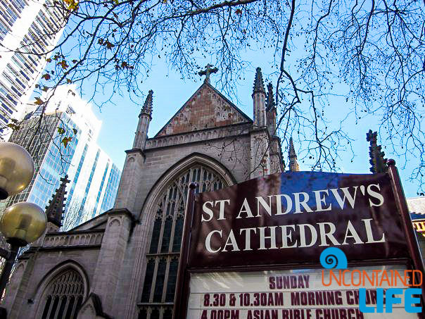 St. Andrews Cathedral, Inexpensive Activities in Sydney, Australia, Uncontained Life