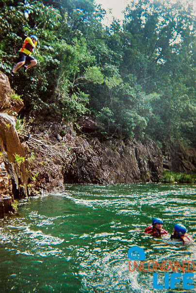Cliff Jump, Tully River, Active Adventures, Australia, Uncontained Life
