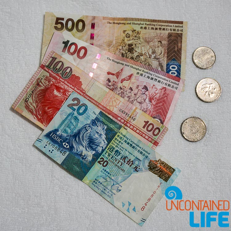 Hong Kong Currency, things to avoid when visiting Hong Kong, Uncontained Life