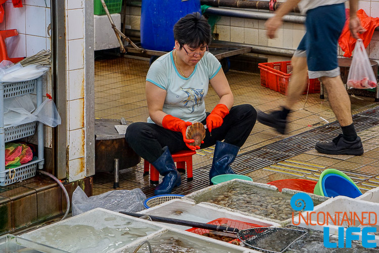 Wet Market, Day trip to Cheung Chau, Hong Kong, Uncontained Life