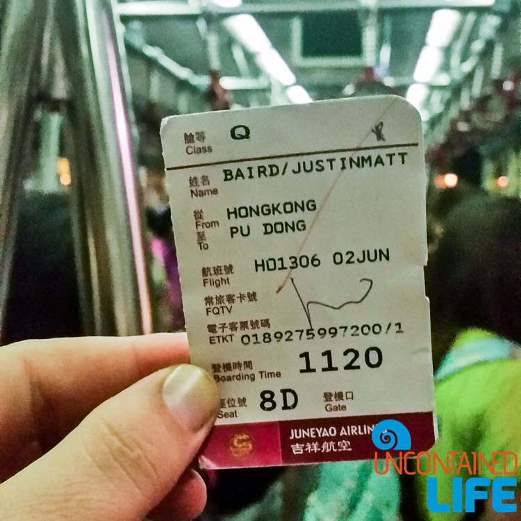 Ticket, things to avoid when visiting Hong Kong, Uncontained Life