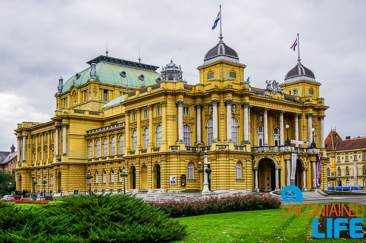 Croatian National Theatre, exploring central Zagreb, Croatia, Uncontained Life