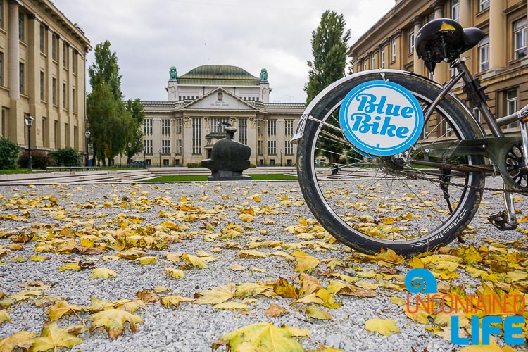 State Archives, Blue Bike, exploring central Zagreb, Croatia, Uncontained Life