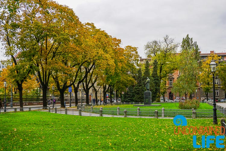 Park, exploring central Zagreb, Croatia, Uncontained Life